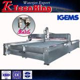abschleifende Wasserstrahl-Ausschnitt-Maschine CNC-5-Axis, MetallWatejet Scherblock