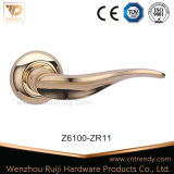 Classic Style Zamak Wooden Interior Hardware Door Lock Handle (Z6096-ZR11)