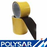 Nastro adesivo del poliestere nero lucido del documento di pergamina sottile con il campione libero per il blocco per grafici della foto