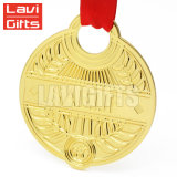 Cheap personnalisés uniques laiton antique métallique en alliage de zinc cuivre Placage de bronze médaille vierge Insérer Award pour le sport