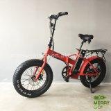 4.0の脂肪タイヤが付いている20inchアルミニウム電気折るバイク