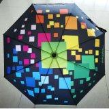 Guarda-chuva de dobramento do presente automático quente dos reforços da venda 21inch 8 para a promoção
