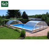 Toiture en polycarbonate et boîtiers de pool de profilé en aluminium
