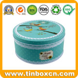 Коробка олова печенья качества еды круглая для жестяной коробки печенья