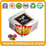 Het vierkante Tin van het Suikergoed van de Banketbakkerij van de Snoepjes van het Metaal voor de Verpakkende Doos van de Gift