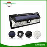 54 Lichten van de Muur van de LEIDENE maken de ZonneSensor van de Motie Openlucht Zonne Aangedreven Licht voor Buitenkant met 3 Intelligente Wijzen waterdicht