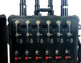 Caixa de barra de tração de alta potência de design 2G, 3G, 4G todo sinal de celular Jammer para aplicação da lei