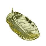 クリスマスの装飾のための金の羽毛の形ハンドメイドの陶磁器のPlates&Dishes