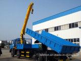Dongfeng 4X2 LKW eingehangener Kran mit dem Selbst, der Kasten spitzt