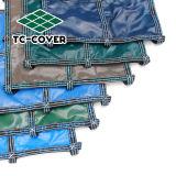 Простая установка синий или зеленый бассейн защитной крышки защиты топливораспределительной рампы защиты детей и экономии расходов на электроэнергию
