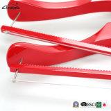 Vermelho Brilhante luxo personalizado melhor revestimento de madeira Prensa Hanger com Barra Quadrada