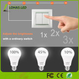 bulbo 10%-45%-100% do diodo emissor de luz de 2W-8W-17W Dimmable 3 ampola do diodo emissor de luz do brilho 5000K