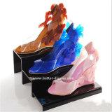 Support acrylique clair Btr-G1027 de chaussure d'opérations
