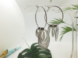 최신 판매 모조 은을%s 가진 금관 악기 구리에 있는 종교적인 보석 원형 귀걸이