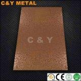 Прилив лист из нержавеющей стали с Rose-Gold для отеля и оформление кабинета