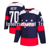 Washington-Kapitalien Alexander Ovechkin Tj Oshie Braden Holtby Nicklas Backstrom, löschen Stadion-Serien-Spieler-Eis-HockeyJerseys 2018