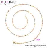 42281の方法ネックレスの宝石類、女性のための簡単なネックレスの新しいデザイン、マルチカラーによってめっきされるネックレス