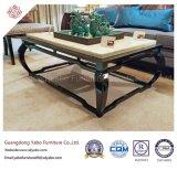 Cet hôtel de style chinois de meubles avec hall en marbre Table à café (YB-D-25-1)