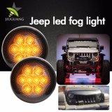 Het in het groot Zwarte LEIDENE van het Chroom 2000K 3000K 12V Licht van de Mist voor Jeep