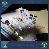 機密保護の印刷番号を用いる反偽造のホログラムのステッカー