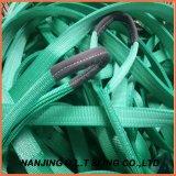 Piega del doppio dell'imbracatura della tessitura da 2 tonnellate per l'imbracatura di sollevamento