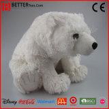 아기 아이를 위한 채워진 견면 벨벳 동물성 포옹 북극 곰 연약한 장난감