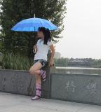 Водоустойчивый прозрачный ботинок дождя, ботинки женщины прозрачные