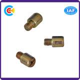 DIN/ANSI/BS/JIS Carbon-Steel/Stainless-Steel galvanizado redondo Zinc-Plated antirrobo destornillador los tornillos de la mano