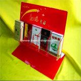 Exibição do Contador de cigarros de acrílico armário com pressor