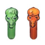 Tubulação colorida da mão da tubulação da colher da face da tubulação de fumo da tubulação de vidro