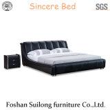 현대 가구 실제적인 가죽 침대