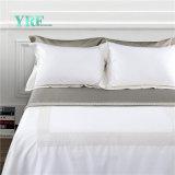 Folha de cama luxuosa durável da cama do hotel personalizada