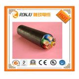 Алюминиевый проводник ПВХ изоляцией стальной ленты бронированных ПВХ оболочку кабеля питания VV22, регулировочный клапан22