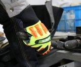 Antideslizante, resistente a impactos trabajo mecánico de seguridad guante con TPR
