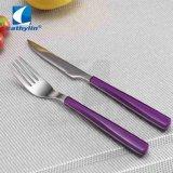 La conception populaire de couleur pourpre Couteau de fruits et de la fourche
