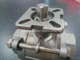 ISO5211 elástico de fixação aparafusada Ss 3PC a Válvula de Esfera