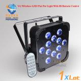 Lumière plate UV de PARITÉ de la radio DEL de l'hexa 12PCS*18W 6in1 Rgbaw de Rasha avec l'IR à télécommande pour l'événement de club d'usager
