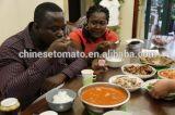 Ventas de la goma de tomate de Irán del conjunto del estaño bien en África