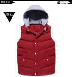Куртка Unisex зимы застежки -молнии верхнего качества с капюшоном безрукавный вниз возлагает