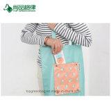 Хозяйственная сумка плеча полиэфира печати оптовых женщин изготовленный на заказ складная