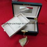 Da caixa Foldable do presente da jóia dos acessórios caixa de jóia de madeira decorativa