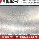 Materiale composito di alluminio di costruzione spazzolato argento del comitato del segno del metallo