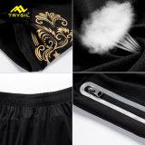 Pantaloni di scarsità attivi della camicia di sport di usura dell'ultimo nero degli uomini Legging