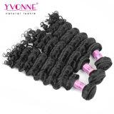 Yvonne-Form-tiefe Wellen-brasilianisches Haar 3 Bündel mit Schliessen