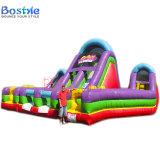 Aufblasbarer Hindernis-Kurs, Kinder, die Schloss-aufblasbares kombiniertes springen