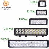 LED 표시등 막대 크리 사람 10W 두 배 줄 4X4 Offroad 안개 LED Lightbar