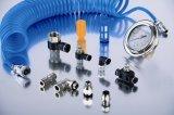 Conectores neumáticos de De PVC PARA Aire del conector del PVC de Cruceta de la unión