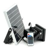 LED Solar Movimiento Solar exterior foco ajustable digitalmente, el tiempo y Lux con batería de litio