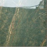 Color verde bosque lluvioso de porcelana de baldosa de mármol pulido