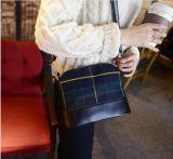 Bolso de totalizador cuadrado de Crossbody del bolso del bolso de hombro de las mujeres de la lona de la tela escocesa